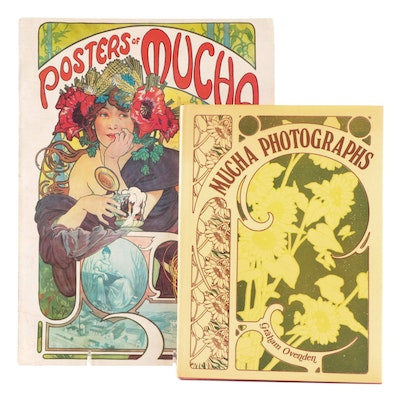 """""""Mucha Photographs"""" by Graham Ovenden with """"Posters of Mucha"""""""