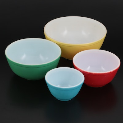 """Pyrex """"Primary Colors"""" Nesting Mixing Bowls, Mid-20th Century"""