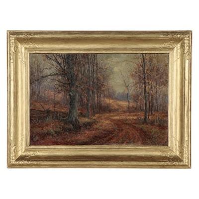 Edward R. Sitzman Autumnal Landscape Oil Painting