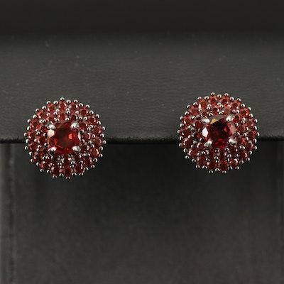 Sterling Garnet Earrings
