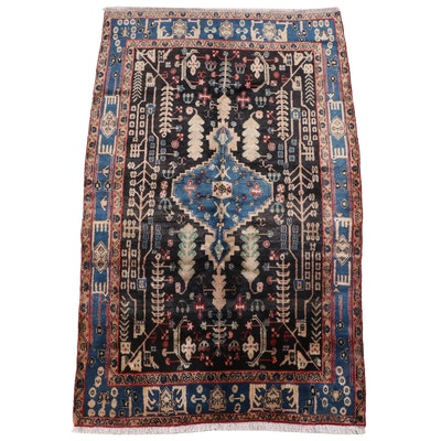 5' x 8'6 Hand-Knotted Persian Tuyserkan Area Rug