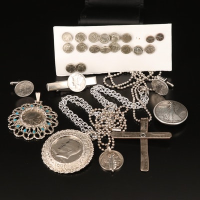 Miniature Coin Replica Earrings and Other Coin Embellished Jewelry