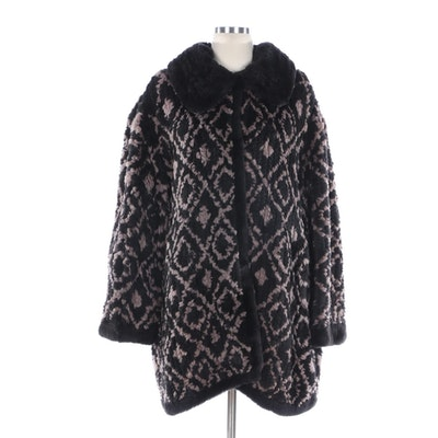 Knit Bicolor Rabbit Fur Coat from J. Silverman's Sons Maple Furriers