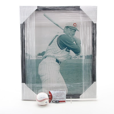 "Pete Rose Signed ""I'm Sorry I Bet On Baseball"" Rawlings Ball and Framed Print"