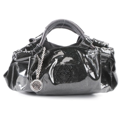 Loewe Aire Medium Hobo Bag in Glitter Patent Leather