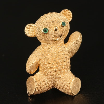 Vintage Cherny 18K Teddy Bear Brooch