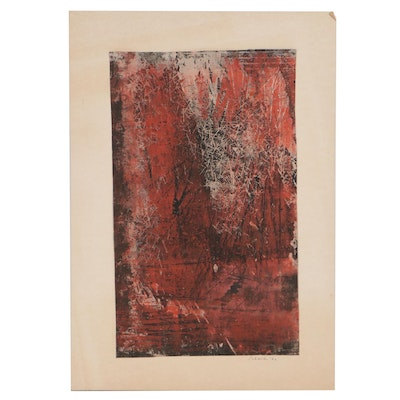Abstract Relief Print, 1962
