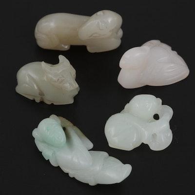 Japanese Carved Stone Netsuke Beads