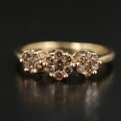 10K 0.50 CTW Diamond Cluster Ring