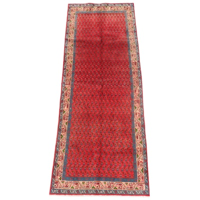 3'8 x 9'9 Hand-Knotted Persian Seraband Long Rug