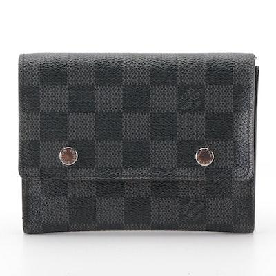 Louis Vuitton Compact Moduable Wallet in Damier Graphite