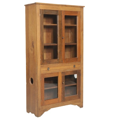 American Primitive Walnut Cupboard, Late 19th to Early 20th Century