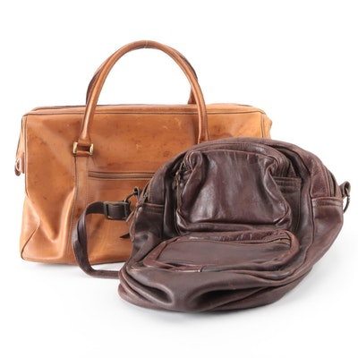 Hartmann Doctor Style Weekender Bag with Other Dark Brown Leather Shoulder Bag