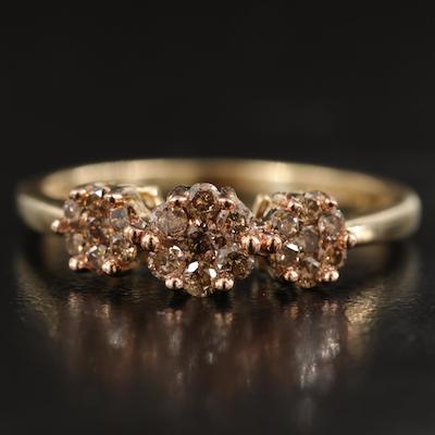 10K Diamond Cluster Ring