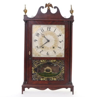 Eli Terry & Sons American Pillar and Scroll Clock, Early 19th Century