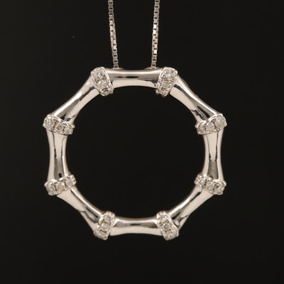 14K 0.24 CTW Diamond Pendant Necklace