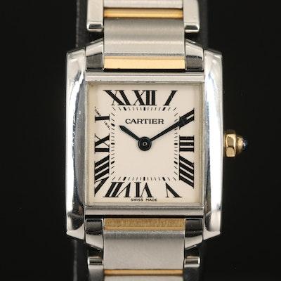 Cartier Francaise Two Tone Quartz Wristwatch