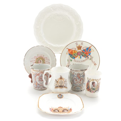 Spode and Other British Royal Family Commemorative Cups and Plates