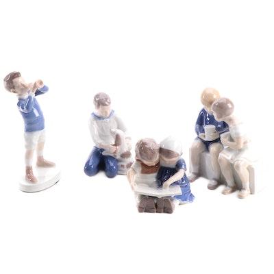 "Bing & Grøndahl ""Children Reading"" and Other Porcelain Figurines"