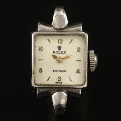 Vintgae Rolex Stainless Steel Wristwatch , Circa 1947