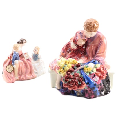 """Royal Doulton """"Flower Sellers Children"""" and Other Bone China Figurines"""