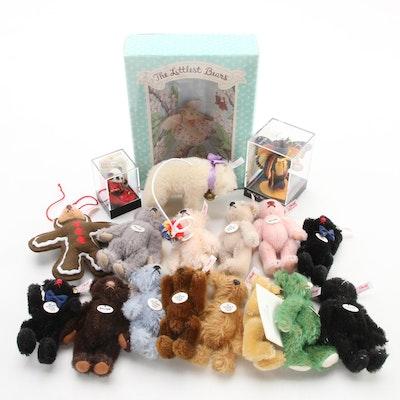 Steiff Club Miniature Stuffed Faux Mohair Bears