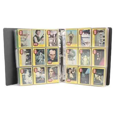 """1977-1980 """"Star Wars"""" Topps and Other Trading Cards and Stickers in Vinyl Binder"""