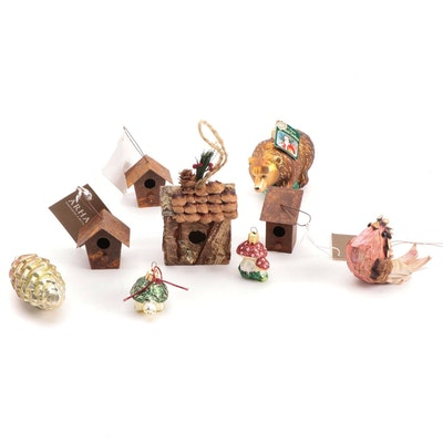 Arhaus, Old World Christmas and Other Metal, Glass and Wooden Ornaments