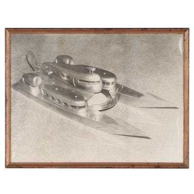 "Silver Gelatin Photograph of ""The Hydro-Dynamic Ship"""