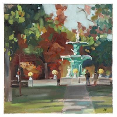 Jenny Westenhofer Park Landscape Oil Painting