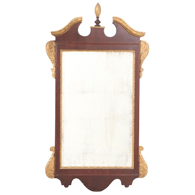 Federal Style Mahogany and Parcel-Gilt Mirror, 20th Century