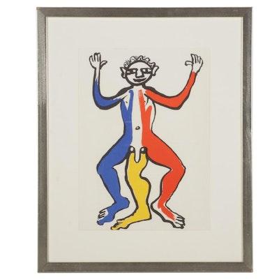 """Alexander Calder Color Lithograph for """"Derrière le Miroir,"""" 1975"""