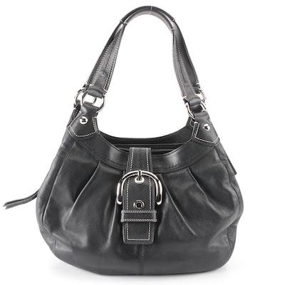 Coach Soho Lynn Shoulder Bag in Black Leather