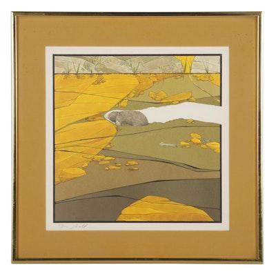 """Peter Parnall Offset Lithograph """"Dead-End Mole,"""" 1978"""