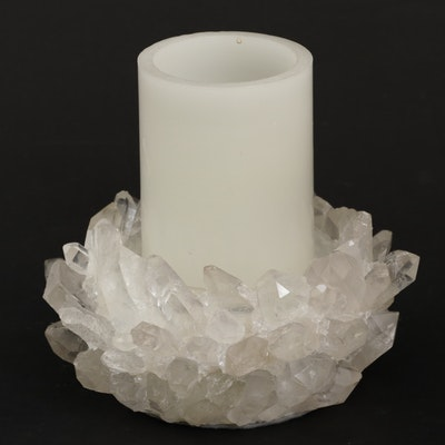 Kathryn McCoy Designs Clear Quartz Crystal Candleholder
