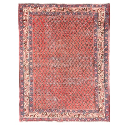 4'2 x 6'6 Hand-Knotted Persian Seraband Area Rug