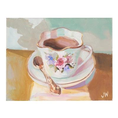Jenny Westenhofer Teacup Still Life Oil Painting