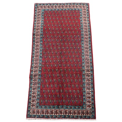 5' x 11'1 Hand-Knotted Persian Mir-i-Boteh Area Rug