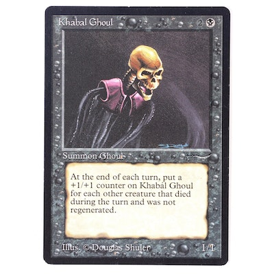 """""""Magic: The Gathering"""" Reserved List """"Khabal Ghoul"""" Trading Card, 1993"""