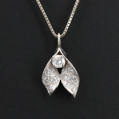 Vintage 14K 0.50 CTW Diamond Pendant Necklace