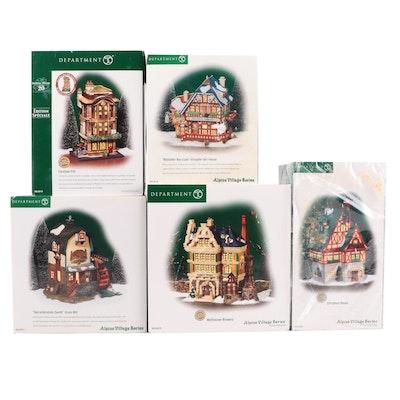 "Department 56 ""Alpine Village Series"" and ""Dickens' Village Series"" Buildings"