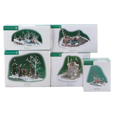 """Department 56 """"Moose in the Marsh"""" and Other Village Accessories"""