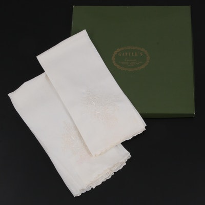 Gattle's Irish Linen Embroidered Tea Towels