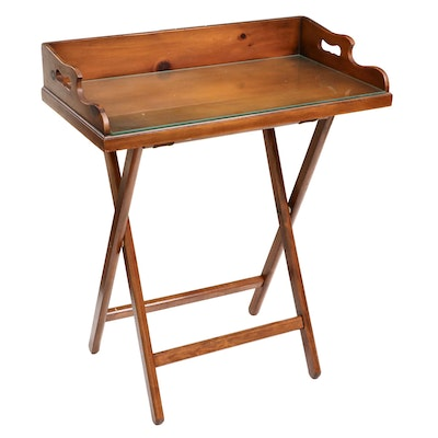 The Original Pine Shop Early American Style Pine Butler's Tray Table