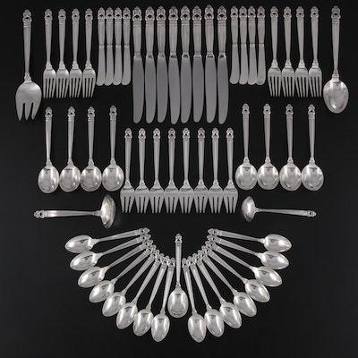 "International Silver ""Royal Danish"" Sterling Flatware and Serving Utensils"