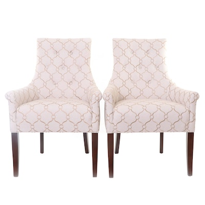 Pair of Vanguard Furniture Button-Tufted Armchairs