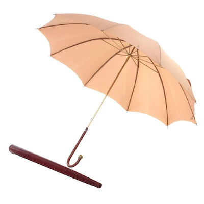 Etienne Aigner Umbrella with Leather Sleeve