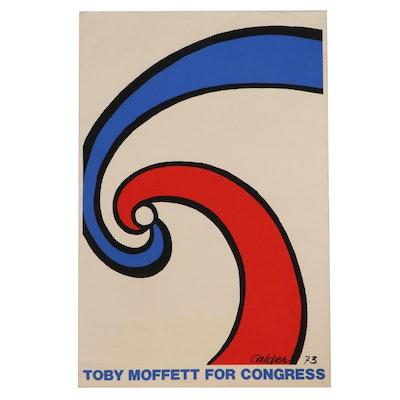Alexander Calder Serigraph Poster for Toby Moffett, Circa 1973
