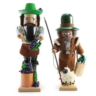 "Steinbach ""Winemaker"" and ""Sheep Herder"" Nutcrackers"