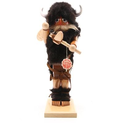 """Steinbach Handcrafted """"Viking"""" Wooden Nutcracker"""